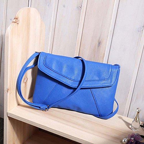 AASSDDFF Venta caliente Bolso de la Mujer Borla Cubierta Plegable Bolsa de Hombro Crossbody Sobre precio al por mayor de la Bolsa, marrón azul