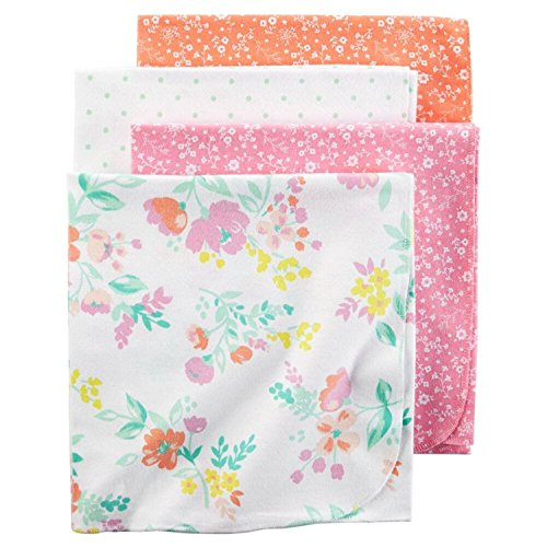 Carter's Girls' Receiving Blankets D06g039, Print, One Size