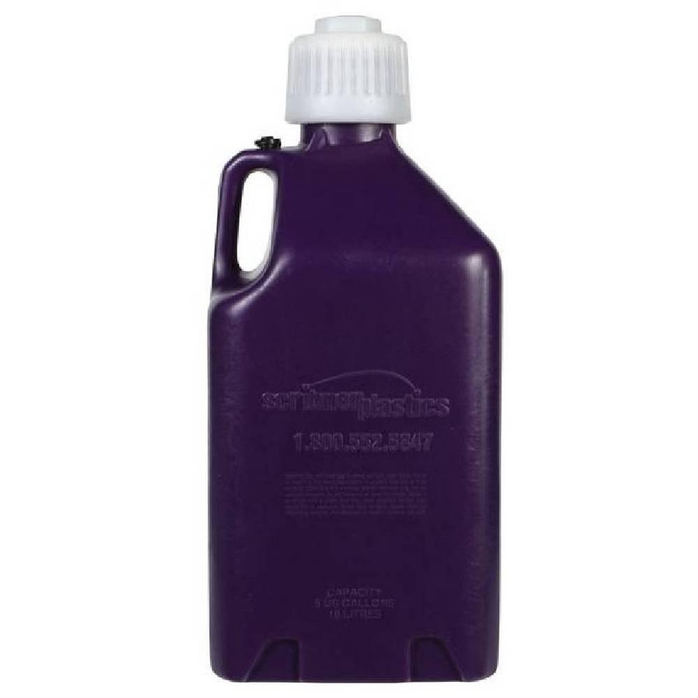 5-Gallon Clear Scribner Plastics 2000W White 5 Gallon Utility Jug