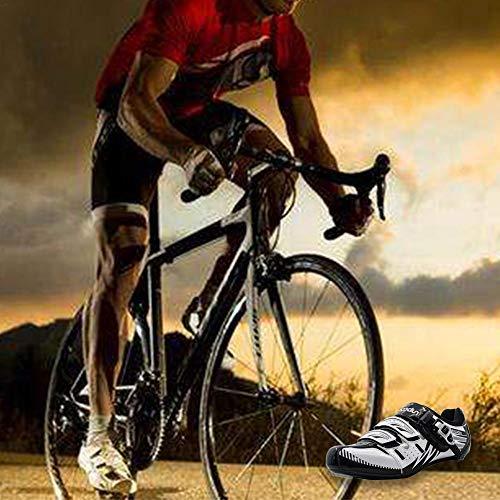 Anti Uomini Traspiranti scivolo Liuxi Bici Per Da Ciclismo Bianca Strada Scarpe qFp8n7wpX