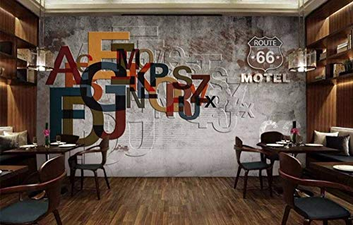 Minyose Custom Wallpaper Bar Colorful Ktv Vintage Fountain Walls Wall Background Mural House Decorative Mural 3D Wallpaper-300Cmx210Cm