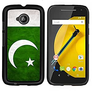 GIFT CHOICE / Teléfono Estuche protector Duro Cáscara Funda Cubierta Caso / Hard Case for Motorola Moto E2 E2nd Gen // National Flag Nation Country Pakistan //