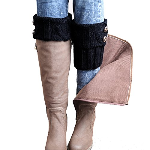 FAYBOX Winter Leg Warmer Crochet Knit Boot Socks