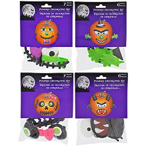 Pumpkin Decorating Kits, 4 Different Sets (Girls Twilight Witch Costume)