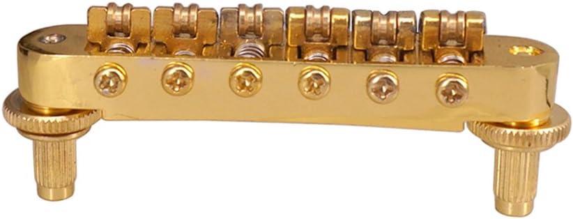 1 Set Tuno o Matic Puentes con Pernos 6 Cuerdas Clavijas de Afinaciónes para LP Guitarras - Negro, como se describe