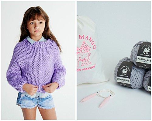 Loopy Mango DIY Kit - Mini Sweater 6-8 years old (Bordeaux) by Loopy Mango