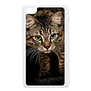 Customized Case for Ipod Touch 4 - cute cat ( WKK-R-61836 )