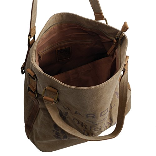 Gris GYD präsentiert mujer ZMOKA® oscuro DHAT para 4540 al gris Harolds von marrón hombro Bolso TqPwBdS1