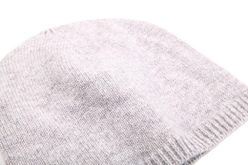 Miuk Women's 100% Pure Cashmere Basic Knit Hat Navy