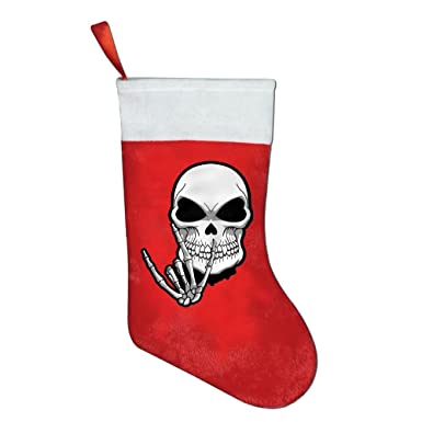 skull hand sign language felt christmas stocking party accessory decorations gifttreat bags for kids