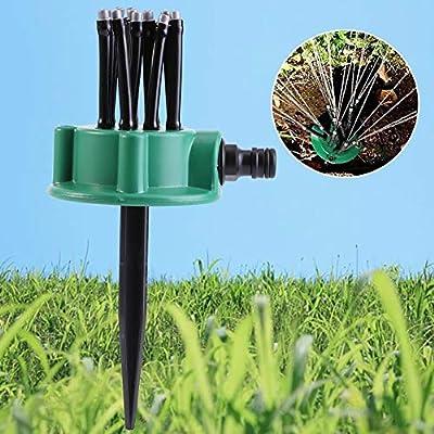 Sistema de riego de jardín Aspersor de riego de Boquilla múltiple de jardín de 2 Piezas - Kit de Sistema de riego de césped Ajustable Herramienta de Agua fácil de Usar: Amazon.es: