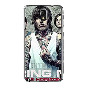Shock Absorption Cell-phone Hard Covers For Samsung Galaxy Note3 With Allow Personal Design Realistic Bring Me The Horizon Band Bmth Image AlissaDubois