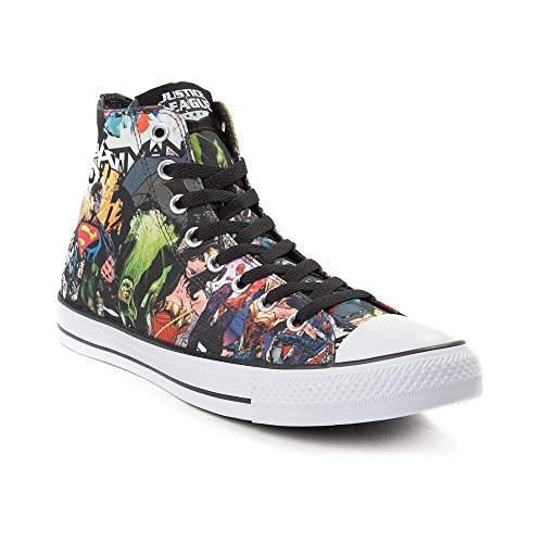 Converse Unisex Adults' CTAS White Hi-Top Trainers, Black Comics Justice League 9592