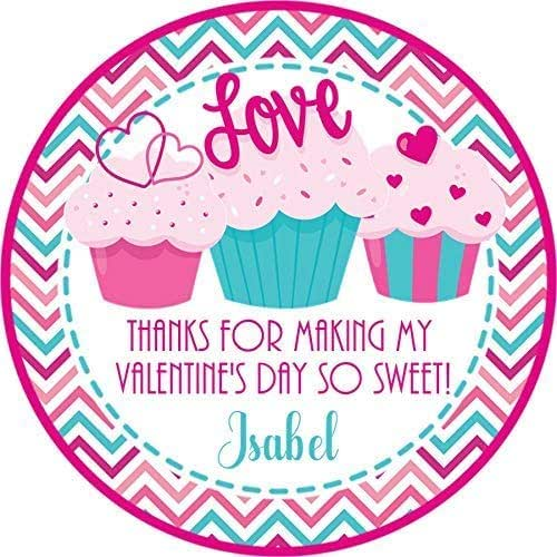 Girls Valentines Day Party Stickers For School Gender Neutral Valentines Day Stickers Cupcake School Valentines Day Stickers Valentines Day Favor Tags Valentines Day Party Favor