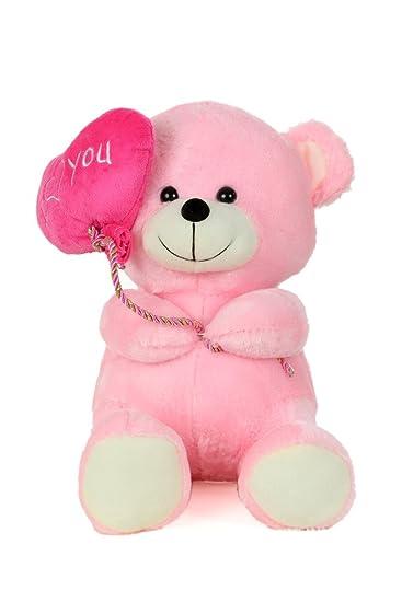 f2d0ed822744 Buy Soft Stuff Cute Teddy Bear with I Love You Heart Ballon Pink ...
