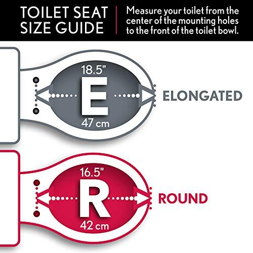 Bemis 1500EC 000 Wood Elongated Toilet Seat With Easy Clean & Change Hinge, White