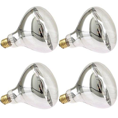 Industrial Performance 375R40/1 130V, 375 Watt, R40, Medium Screw (E26SK) Base Flood Light Bulb Heat Lamp (4 -