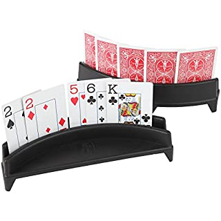 Home-X Playing Card Holder, Set of 2 (Cards not Included)