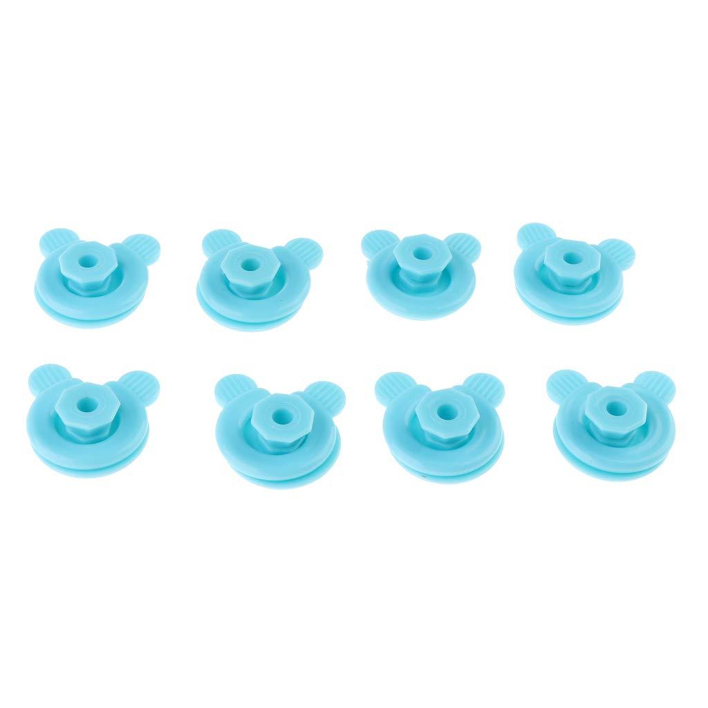 Bleu Fenteer Comptez 8 Pinces De Literie pour Couette Couvercles pour Fixations De Chambre /à Coucher