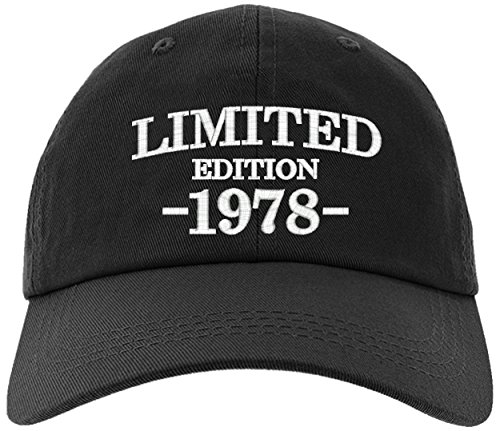 Birthday Limited Edition - Cap 1978-40th Birthday Gift, Limited Edition All Original Parts Baseball Hat 1978-EM-0005-Black
