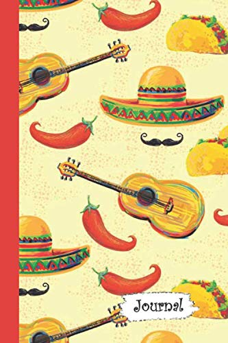 Journal: Tacos & Guitar Diary with Blank Lined Notebook Paper (Guitar Easter Basket)