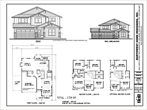Home Plan Blueprints Package Design Nhd 5872 G Two Story