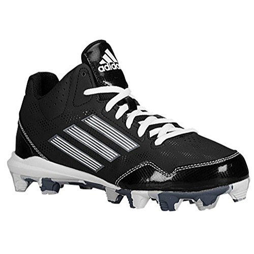 half off 124da 544db adidas Wheelhouse 2 Mid BSBL Men s Baseball and Softball Shoes Size US 6.5,  Regular Width, Color Black White