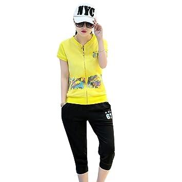 Fashion Sport CaoDu® mujeres sudaderas Pantalones deportivo 2 ...