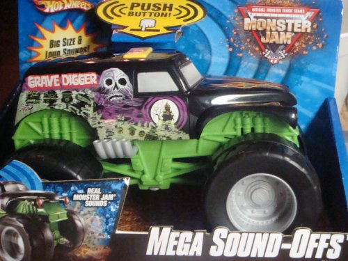 Hot Wheels Monster Jam Mega Sound-Offs Grave Digger Vehicle