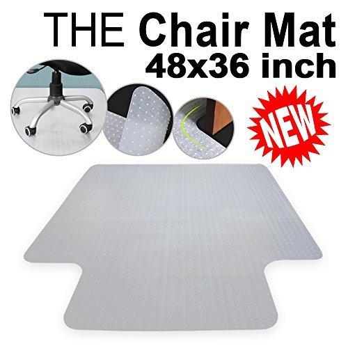 Super Deal Free PVC Multitask Series Chair Mat with Lip for Hard Floors, 36''x 48'' , Carpet Floor Protection Home Office Computer Work Chair Mat , Studded, Clear Vinyl, Rectangular (36'' x 48'') by SUPER DEAL