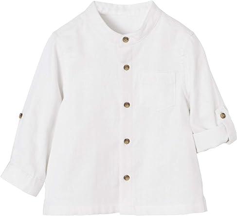 VERTBAUDET Camisa para bebé niño con Cuello Mao: Amazon.es: Ropa
