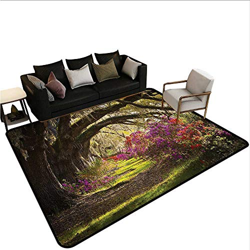 - Nature,Anti-Slip Coffee Table Floor Mats 60