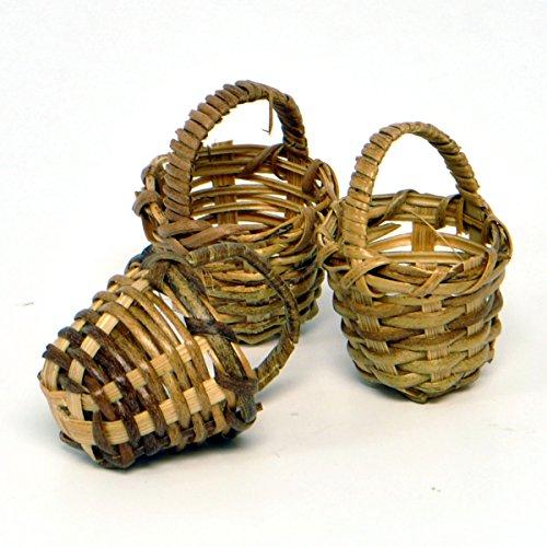 Miniature Fairy Garden Round Fruit Baskets, 3 Piece Set (Miniature Baskets)