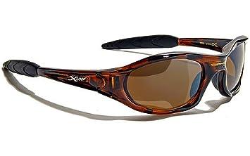 X-loop Sonnenbrillen Sport - Radfahren - Skifahren - Tennis - Motorrad - Mtb / 010P Schwarz Orange GLeZeKTDM