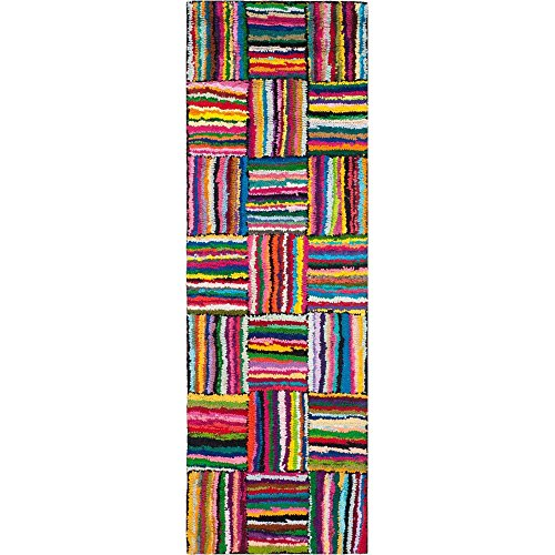 Dimensions Runner Rug - Nantucket Alfonso Hand Tufted Cotton Runner Rug, Multi-Colored + Expert Guide
