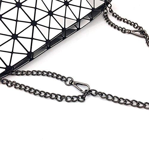 Diamantata Geometriche Donne Scoperta Borsa Totalizzatore Inclinato Trapuntati Irregolare Ch Catena Singolo Dcrywrx Zvxgwfxq
