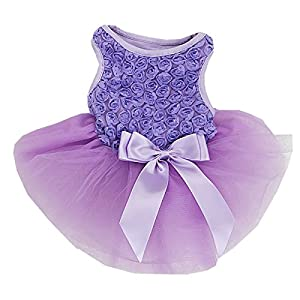 Rosettes Dog Dress Dog Dress Medium Lavender