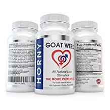 Horny Goat Weed with Maca Root - 10X MORE POWERFUL - 180 Capsules of an Exclusive 100mg of Icariin - For MEN and WOMEN - Maximize your potential – All Natural Herbal Ingredients