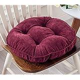 Thicken Round Seat Cushions Sofa Chair Pillow Cushion Chair Pads (red wine)