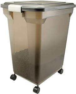IRIS Premium Airtight Pet Food Storage Container, Smoke
