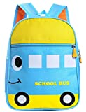 Happy Cherry Kid Backpack, Baby Boys Girls Toddler Pre School Bags, Car