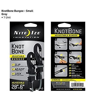 Nite Ize KBB9-03-01 KnotBone Adjustable Bungee Cord, 9mm Thick - Bungee Cords - .com