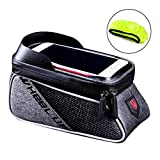 WATERFLY Bicycle Frame Bag Bike Front Tube Handlebar Bag Cycling Pack Touch Screen Phone Case iPhone X/8/7 plus/7/6s/6 plus/5s