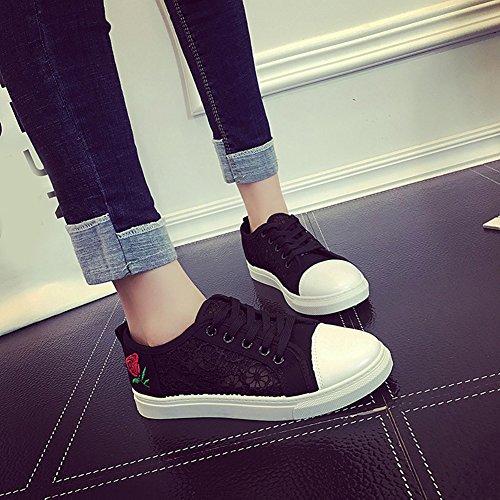 D'exécution Femmes En Sport Pour Baskets D'espadrille De Enfants Filles Cours Scothen Toile Black Chaussures Dentelle Espadrilles wqzxAS