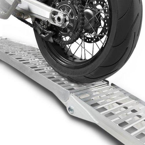 Constands rampa di carico alluminio, max. 340 kg, pieghevole, per moto, scooter, quad, ATV