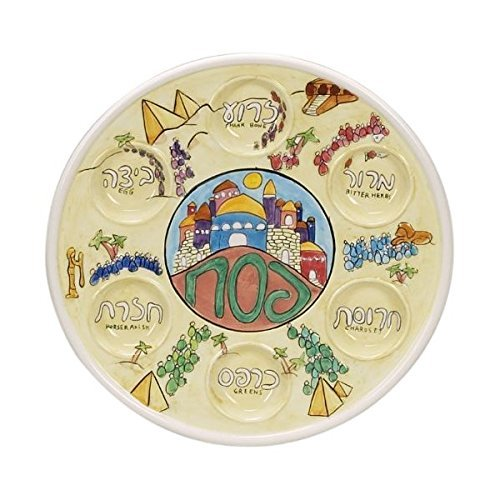 Handpainted-Relief-Passover-Seder-Plate