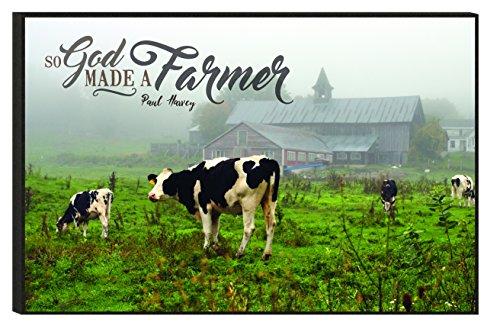 God Made Grass (So God Made A Farmer Pasture Cows 10.5 x 16 Mounted Wood Wall Art)