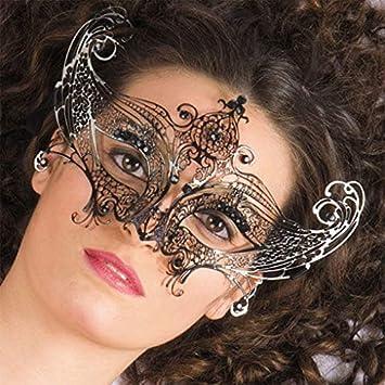 Horror-Shop Máscara de metal veneciano con piedras preciosas