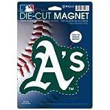 MLB Oakland A's 82045013 Die Cut Logo Magnet, Small, Black