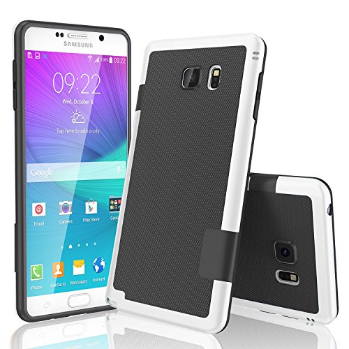 Galaxy Note 5 Case, TILL(TM) Ultra Slim 3 Color Hybrid Impact Anti-slip Shockproof Soft TPU Hard PC Bumper Extra Front Raised Lip Case Cover for Samsung Galaxy Note 5 V (Lip Cell Phone Case)